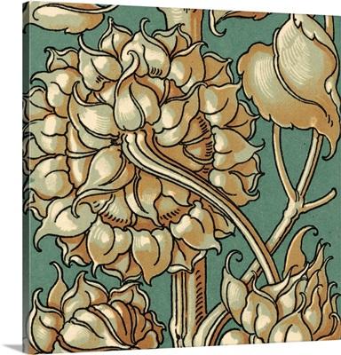 Sunflower Woodblock III