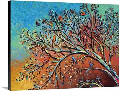Sunrise Treetop Birds I