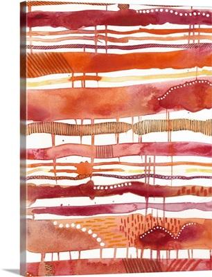 Tangerine Stripes I