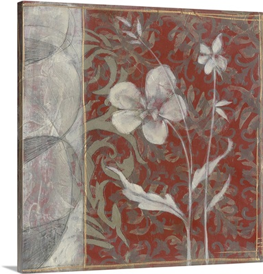 Taupe and Cinnabar Tapestry III