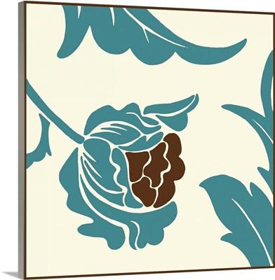 Teal Floral Motif I