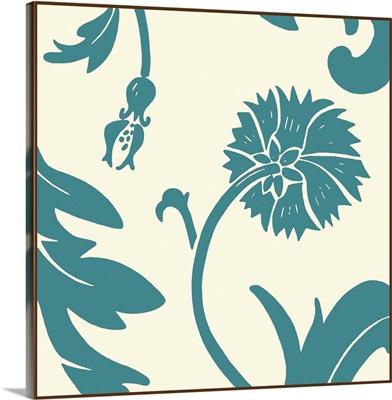 Teal Floral Motif III