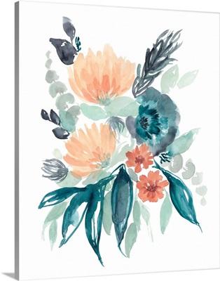 Teal & Peach Bouquet I