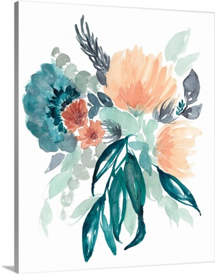 Teal & Peach Bouquet II