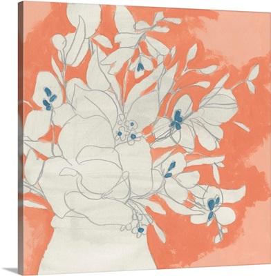 Terracotta Flowers I
