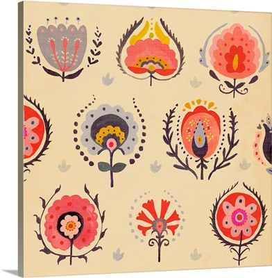 Textile Flowers II