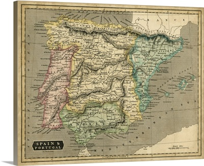 Thomson's Map of Spain and Portugal