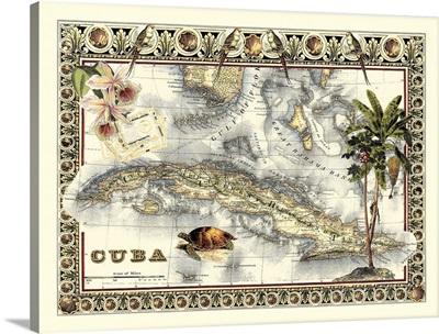 Tropical Map of Cuba