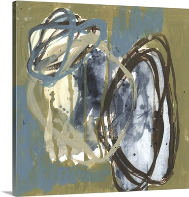 Umber & Blue Rounds I