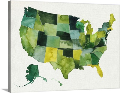 USA In Watercolor I