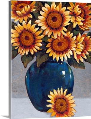 Vase of Sunflowers I