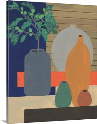 Vases on a Shelf III