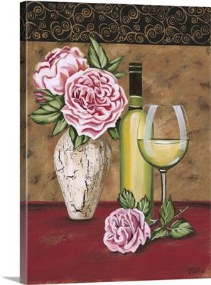 Vintage Flowers and Wine II