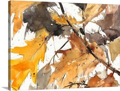 Watercolor Autumn Leaves I