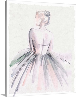 Watercolor Ballerina I