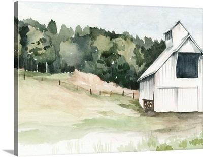 Watercolor Barn III