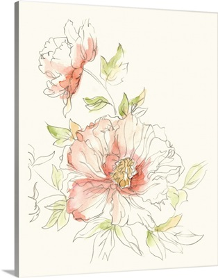Watercolor Floral Variety I