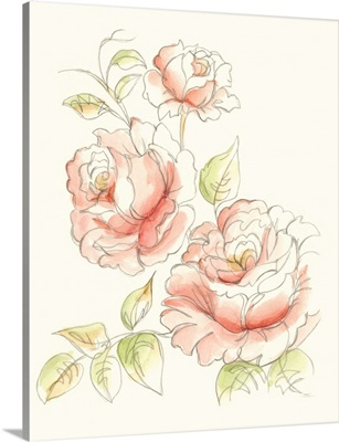 Watercolor Floral Variety IV