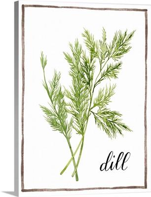 Watercolor Herbs III