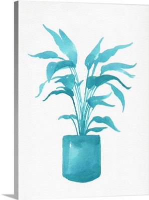 Watercolor House Plant IV
