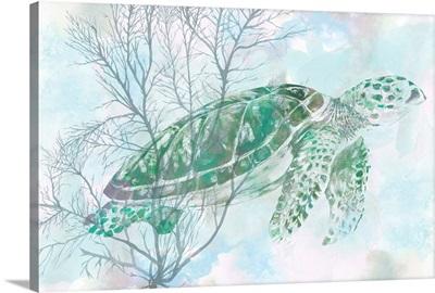 Watercolor Sea Turtle I