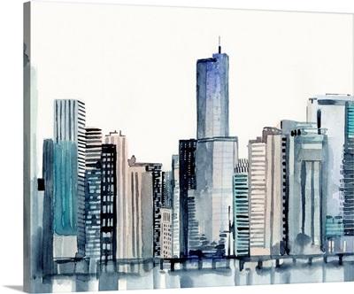 Watercolor Skyline I