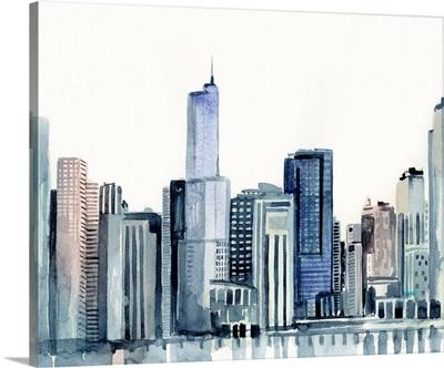 Watercolor Skyline II