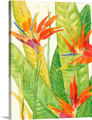 Watercolor Tropical Flowers III