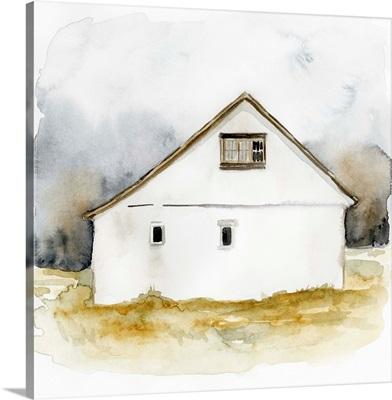 White Barn Watercolor I