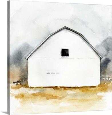 White Barn Watercolor II