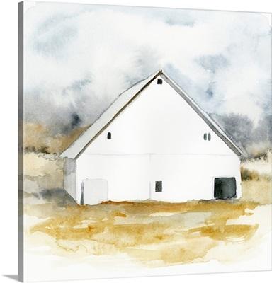 White Barn Watercolor IV