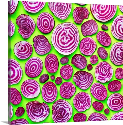 Chioggia Beets On Lime