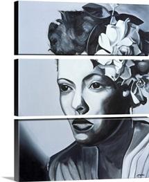 Billie Holiday (1915-59) (oil on canvas)