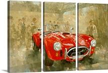 Cobra at Brooklands (oil on canvas)