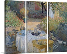 The Luncheon: Monets garden at Argenteuil, c.1873 (oil on canvas)