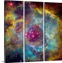 Rosette nebula NGC 2244 in Monoceros