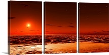 Spring arrives near the Martian polar cap