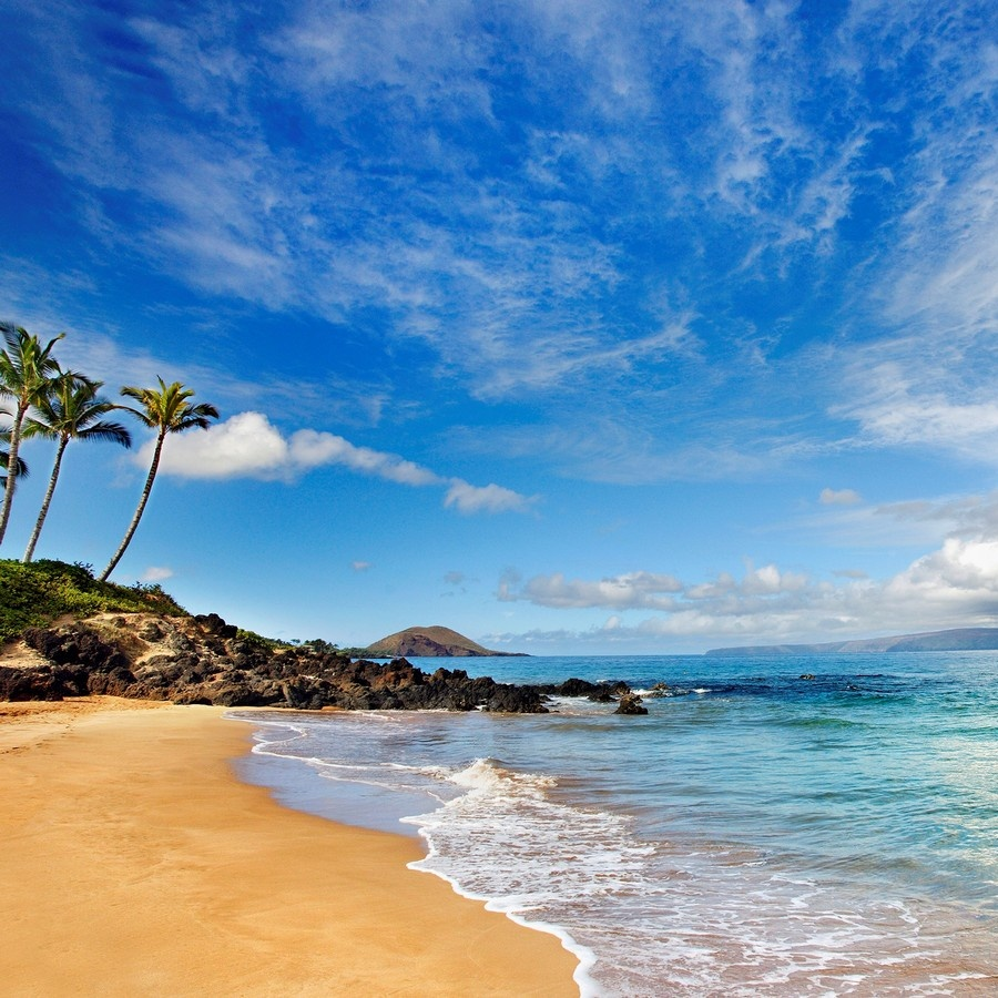 Maui Hawaii Beaches: Hawaii, Maui, Makena, Secret Beach At Sunset Wall Art