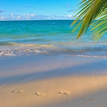 Hawaii, Oahu, Footprints In The Sand At Lanikai Beach