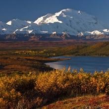 Scenic view of Mt. McKinley and Wonder Lake Denali National Park Interior Alaska
