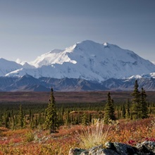 Scenic view of Mt. McKinley during Autumn Denali National Park Interior Alaska