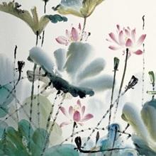 Lotus Dance in the Autumn Wind
