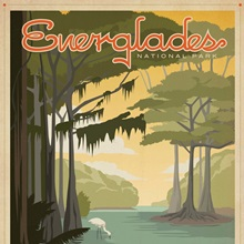 Everglades National Park, Florida - Retro Travel Poster