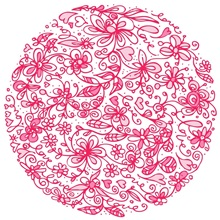 Pink Flower Circle