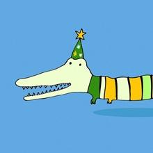 Stripy Crocodile