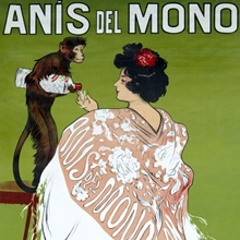 Anis del Mono, Vintage Poster