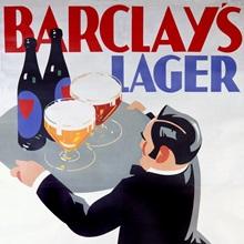 Barclays Lager: Light or Dark, Vintage Poster, by Tom Purvis