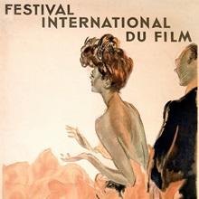 Festival International du Film, Cannes, Vintage Poster, by Jean Gabriel Domergue