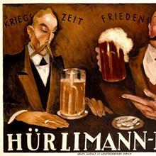 Hurlimann Bier, Vintage Poster