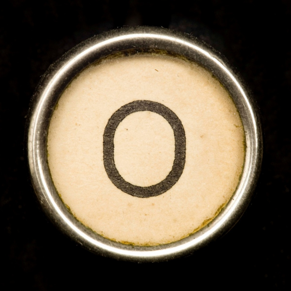 O - Black Typewriter Key Letter Art Wall Art, Canvas Prints, Framed ...
